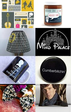 We were featured here:  Waiting for the new season of Sherlock by Will on Etsy--Pinned with TreasuryPin.com #Sherlocked #Shopping #Etsy