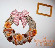 Cinnamon and orange wreath