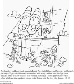 Bible Story Craft coloring cards. Tell Bible stories from