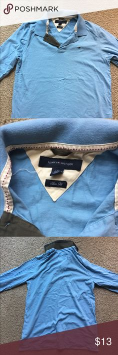 quality Tommy Hilfiger size L like new Very good quality. Not a cheap made shirt. As you can see by collar and inside seams it is very well made high end dress shirt. Like new condition Tommy Hilfiger Shirts Dress Shirts