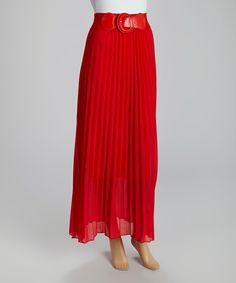 Look what I found on #zulily! Red Belted Maxi Skirt by MIA MIA #zulilyfinds