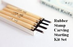 Rubber Stamp Carving Kit Set Handmade Rubber by SuppliesEmho