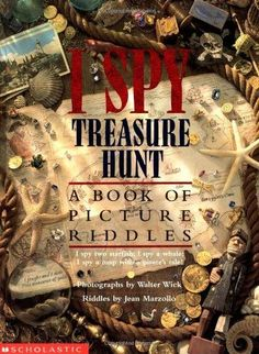 I Spy Treasure Hunt. Photographs by Walter Wick. Riddles by Jean Marzollo. I Spy Games, Free Games, I Spy Books, My Books, Rhyming Riddles, Junie B Jones, Pirate Treasure Maps, Treasure Hunting, The Computer