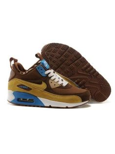 best service 0fe6d be5e7 Nike Air Max 90 Sneakerboot Herr Gul Khaki SE096859