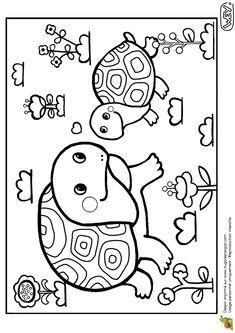 Coloriage Bebe Tortue.10 Images Delicieuses De La Tortue Qui Voulait Dormir Turtles