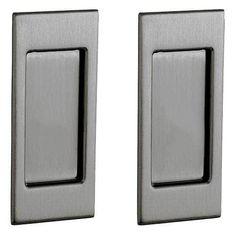 Baldwin PD006.Pass Santa Monica Passage Pocket Door Set with Door Pull from the Estate Collection (Antique Nickel)