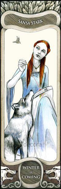 Sansa Stark - A Song Of Ice And Fire by ETdecora.deviantart.com