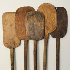 Old Wooden Butter Paddles