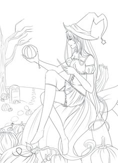 [Free] Halloween Line Art by Reverrii.deviantart.com on @deviantART