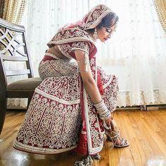 Indian Bride! Hindu Wedding!  It's @bindibaby looking as gorgeous as EVER! ・・・ Details ✨ #TheCoordinatedBride #HappilyEverRamsawmy #coordinatedbridesdoitbetter #bride #wedding