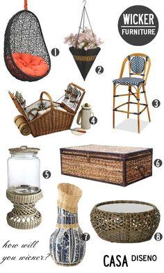 Decoration Inspiration: Wicker Pleasures #wicker #home #furniture