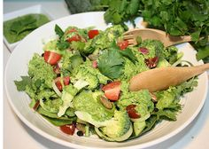 healthy green fast food
