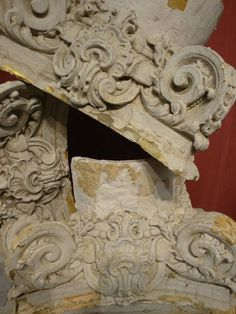 19th century french plaster `capitals`  Would love to have Sid dickens do a memory plaque like this. It would be awesome..