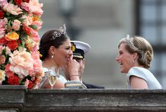 Crown Princess Victoria and the Countess of Wessex having a laugh.