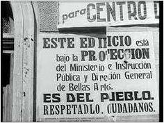 Entre los objetivos de la Junta de Protección del Tesoro Artístico estaba el desarrollo de una labor pedagógica orientada al respeto del patrimonio.