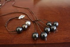 Trybe 6 pearl cluster necklace and 3 pearl slipknot bracelet  #retailtherapymi