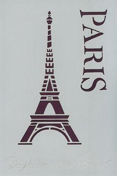 Foto de PLANTILLA STENCIL DAYKA A6 15x10 CM PARIS Cool Stencils, Drawing Stencils, Stencil Diy, Stenciling, Stencil Templates, Art Template, Stencil Designs, Kirigami, Foto Transfer