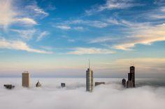 Mgła przykryła Chicago