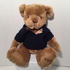 BURBERRY Perfume Gift Teddy Bear Brown Navy Polo Plush Lovey Stuffed Animal 2010 #Burberry #AllOccasion