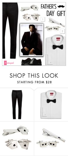 """""""Father's Day Gift Guide"""" by shambala-379 ❤ liked on Polyvore featuring Maison Margiela, HUGO, Versace and Massimo Matteo"""