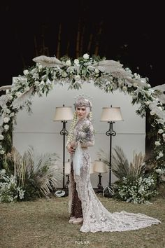 Discover recipes, home ideas, style inspiration and other ideas to try. Kebaya Wedding, Muslimah Wedding Dress, Muslim Wedding Dresses, Disney Wedding Dresses, Wedding Dress Sleeves, Wedding Bride, Dream Wedding, Hijab Bride, Muslim Brides