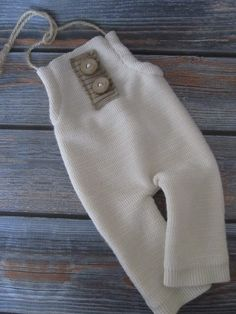 RTS - Newborn Photography Prop - Upcycle Boys Romper w/ Driftwood Buttons - Ivory/Tan by Liltwigs on Etsy https://www.etsy.com/listing/242835751/rts-newborn-photography-prop-upcycle