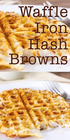 Waffle Iron Hash Browns – make your own crispy crunchy and delicious hash browns the easy way, in the waffle iron. Breakfast never had it so good Browns Waffle Iron Hash Browns Camping Breakfast, Breakfast Waffles, Breakfast Dishes, Breakfast Recipes, Breakfast Ideas, Breakfast Hash Browns, Breakfast Quesadilla, Pancake Recipes, Breakfast Sandwiches