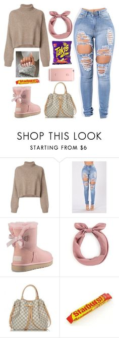 """"""""""" by queenbles ❤ liked on Polyvore featuring Rejina Pyo, UGG, Louis Vuitton, FRUIT and Fuego"""