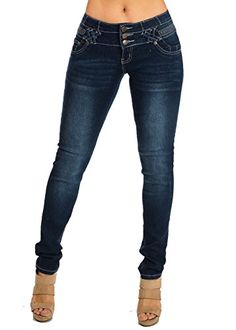 f5432bd6c40b74 Kaba Blue Washed Low Rise Colombian Design Skinny Jeans 10259R at Amazon  Women's Jeans store