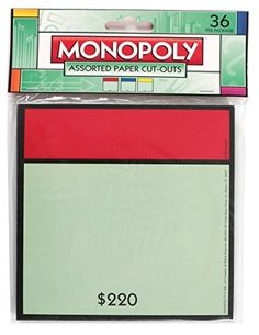 Kids' Paper Craft Kits - Eureka Monopoly Assorted Paper CutOuts 12 Each of 3 Different Designs 36Pieces * Click image for more details.