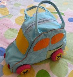 LO que HAGO en mi CASA: BOLSA INFANTIL EN FORMA DE COCHE ( Patrón)