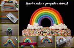 rainbow cake topper tutorial