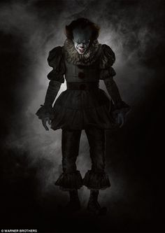 Evil incarnate: This image of killer clown Pennywise from the upcoming remake of Stephen King's It was released on Tuesday