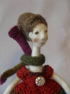 Mymble, a needle felted doll, one of a kind