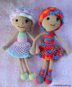 Dolls and Pauline Allen. Scheme Crochet DIY