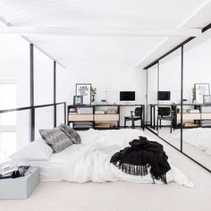 love the full wall length mirror making the room more open.