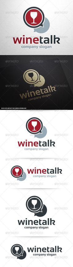 Wine Talk Logo Template