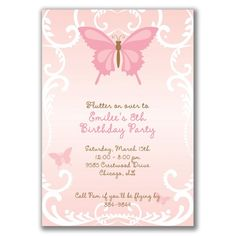 Toddler Girl Birthday Invitation Unique Items Similar to 15 Beautiful butterfly Invitations for Butterfly Invitations, Party Invitations Kids, Halloween Invitations, Butterfly Party, Butterfly Birthday, 4th Birthday Parties, Girl Birthday, Birthday Ideas, Birthday Template
