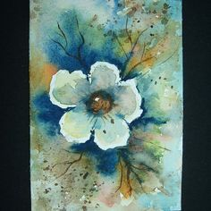 flowers rose impressionist art painting aceo sfa by teabreaks