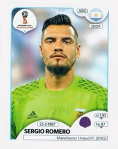 262 - Sergio Romero We'll miss you😭 World Cup Russia 2018, World Cup 2018, Fifa World Cup, Soccer Cards, Baseball Cards, Premier League, Steven Gerrard, Argentina World Cup, Iker Casillas