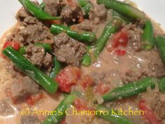 Mm! Beef Tinaktak ♡ Local Chamorru recipe.  Beef drowned in coconut milk. I love to add either lemon or calamansi for a brighter taste :)