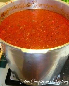homemade spaghetti sauce straight from the garden!