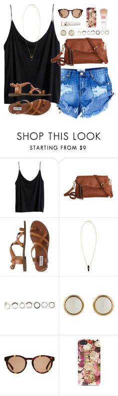 """"""":~)"""" by classically-preppy ❤ liked on Polyvore featuring H&M, Steve Madden, Isabel Marant, Iosselliani, Hermès, Linda Farrow, Kate Spade, Origins and Maybelline"""