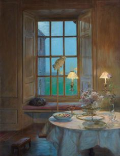 A Room at Twilight: Kellie Castle by John Henry Lorimer (British 1856–1936)