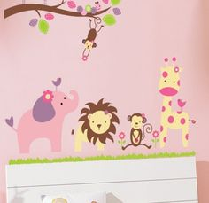Cute animals wall decal sticker baby nursery girl boy home decor | Baby, Nursery Décor, Wall Décor | eBay!