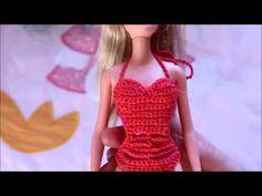 Как связать купальник для куклы Барби. Подробый мастер-класс.