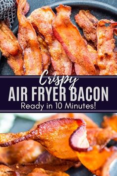 This Air Fryer Bacon recipe is super crispy and the perfect addition to your breakfast plate or favorite recipe. Air Fryer Recipes Appetizers, Air Fryer Recipes Low Carb, Air Fryer Recipes Breakfast, Breakfast Cooking, Breakfast Plate, Bacon Recipes, Chef Recipes, Brunch Recipes, Cooking Recipes