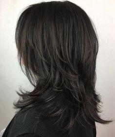 Modern Shag Haircut, Long Shag Haircut, Haircut For Thick Hair, Haircuts For Long Hair, Layered Haircuts For Medium Hair, Haircut Medium, Shag Hairstyles, Sleek Hairstyles, Feathered Hairstyles