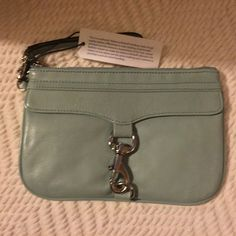 Rebecca Minkoff Skinny MAC Wristlet! NWT Rebecca Minkoff Skinny MAC wristlet in Mint! Please view all photo's carefully & ask any questions you may have before purchasing! No trades/PP ✨ Rebecca Minkoff Bags Clutches & Wristlets