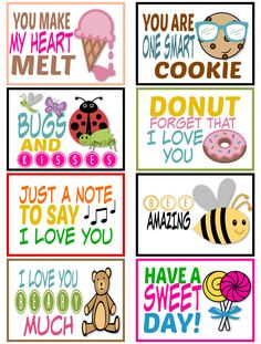 25 Free Printable Lunchbox Notes for Kids - Simple Mom Project - Going back to school or starting school for the first time is tough for any kid. Make it fun by usi - Lunchbox Notes For Kids, Kids Notes, School Lunch Box, School Notes, Packing School Lunches, Pta School, Lunch Boxes, School Ideas, Starting School